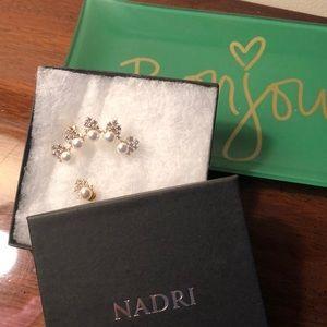 Nadri 'Delice' mismatched earrings